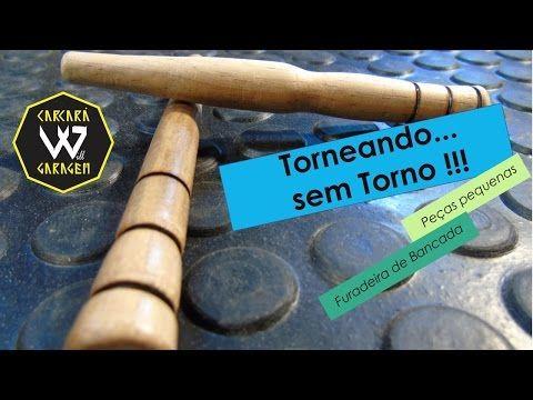Torneando sem torno - Furadeira de bancada - Lathing without a lathe - YouTube