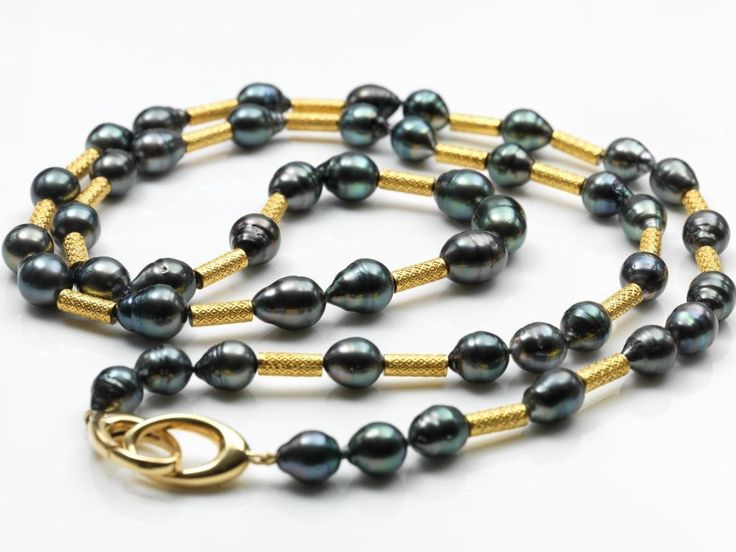 Assael Gold and Tahitian Pearl Necklace