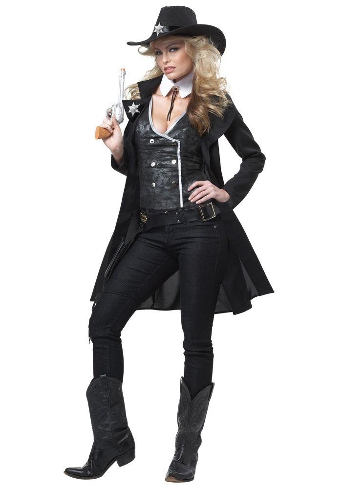 Cowgirl Kostüm mit Hut und Wasserspritzpistole-Faschingideen