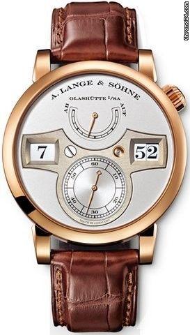 A. Lange & Söhne Zeitwerk Silver Dial 18K Rose Gold Men's Watch