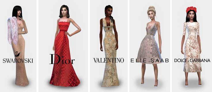 SIMSRUNWAY Formal Collection No. 1 As requested by anon, a formalwear collection featuring some of my favorite red-carpet brands. I've labelled it the first collection, because I will probably create...