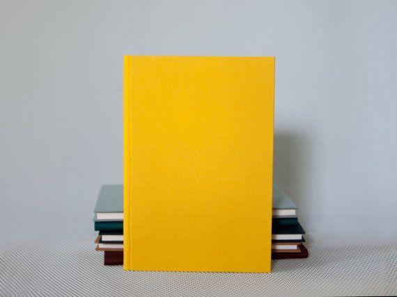 Slim Yellow Notebook with Round Spine