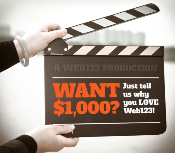 Here's Your Chance to Win $1,000 Cash from Web123!