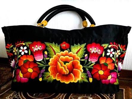 Resultado de imagem para bolsa bordados mexicano