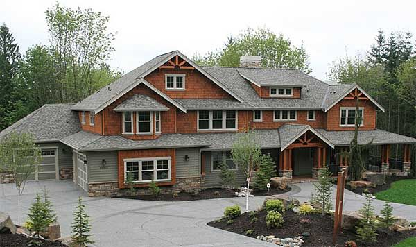 Plan W23180JD: Craftsman, Northwest, Corner Lot, Country, Sloping Lot .