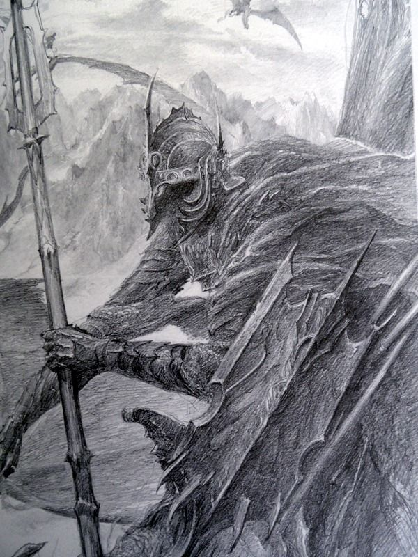 The Lord of the Rings Sketchbook - by Alan Lee (Witch-king)