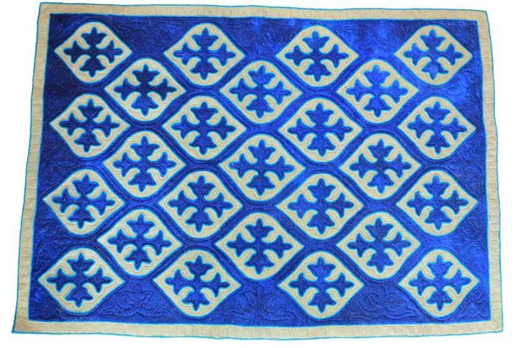 Tamchi, handmade shyrdak felt carpet.