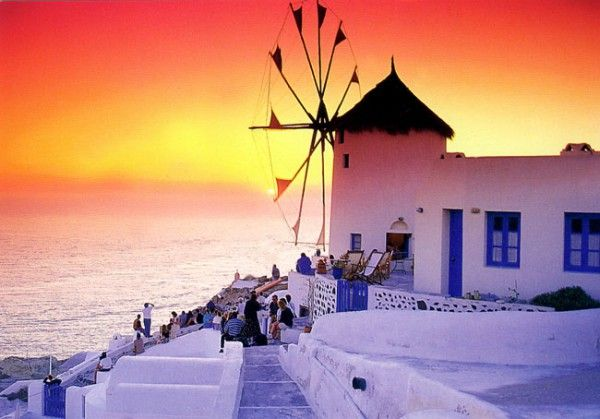 #sunset in #santorini