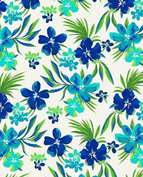 15 best Floral Print  Aqua images on Pinterest  Floral prints