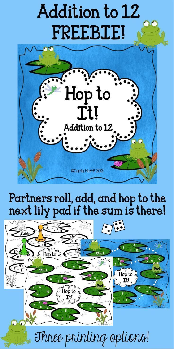 Partners will have fun practicing addition to 12 with this simple ...