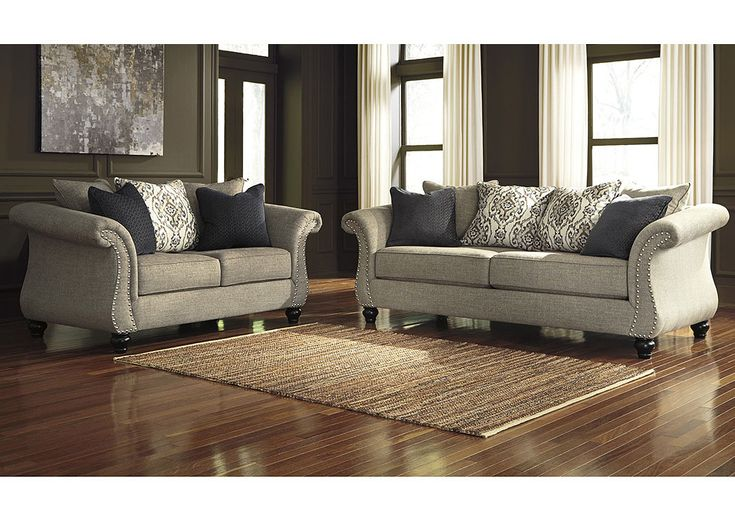 Jennifer Convertibles: Sofas, Sofa Beds, Bedrooms, Dining Rooms & More! Jonette Stone Sofa and Loveseat