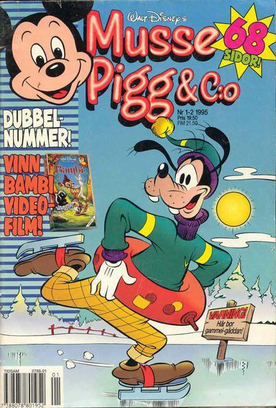 Cover for Musse Pigg & C:o (Serieförlaget [1980-talet], 1993 series) #1-2/1995