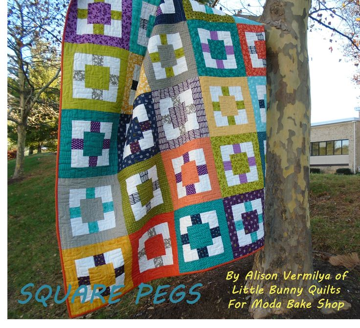 Little Bunny Quilts: Square Pegs Pattern at Moda Bake Shop!