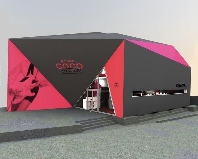 シャネルのイベントスペースシャネル ルージュ ココ オン ツアーが期間限定オープン