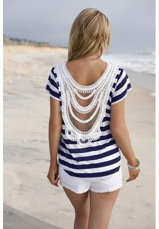 super cute! what a great style.Summer Shirts, Summer Outfit, Beach Outfit, Lace Back, Body Central, Crochet Tops, Summer Tops, Open Back, Back Details