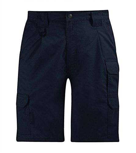 Propper Men's Tactical Short, LAPD Navy, 52:   Keep your gear by your side with the Propper Mens Tactical Short. With nine pockets, there is room for everything you need. The polyester/cotton ripstop naturally resists fading, shrinking and wrinkling, while DuPont Teflon fabric protector repels liquids and resist stains. For extra durability and comfort, our Tactical Shorts come with a sturdy snap closure with French fly, heavy duty double seat, reinforced pocket closures, action stretc...