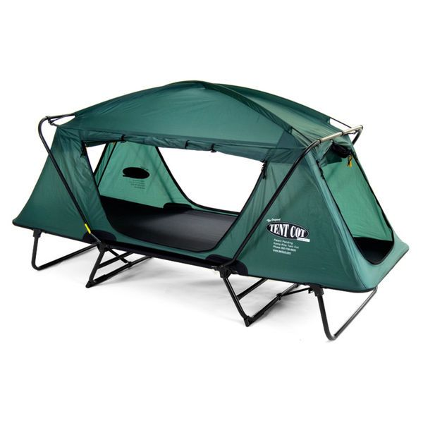 Kamprite Oversize 1 Person Bed Tent Cot With Rainfly Up To 350 Lbs Folds Camping #KampRite #Trifold