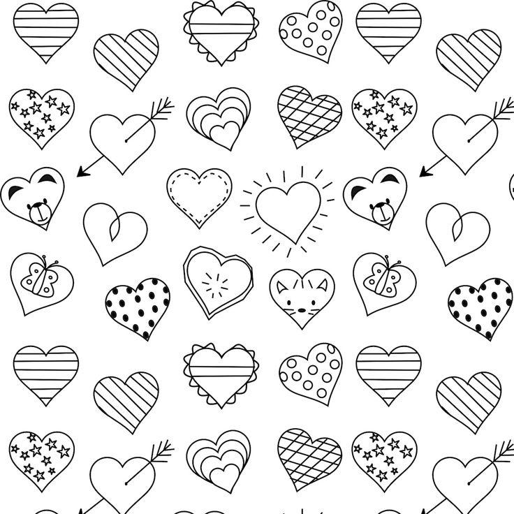 Free printable heart coloring page - ausdruckbare Ausmalseite - freebie | MeinLilaPark – DIY printables and downloads