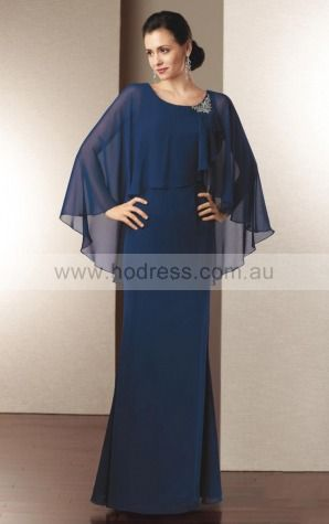 Zipper Floor-length Natural Sheath Chiffon Formal Dresses aiga307028--Hodress