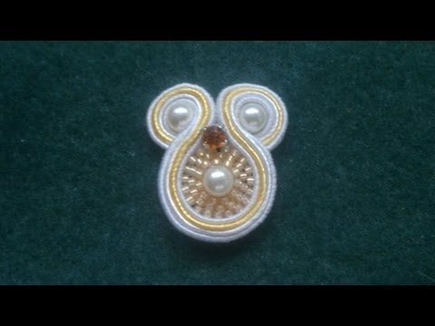 ▶ Beading4perfectionists : Soutache #1 : How to curve around a pearl earring beginners tutorial - YouTube