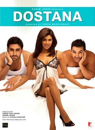 Dostana-Starring Abhishek Bachchan, Priyanka Chopra, and John Abraham