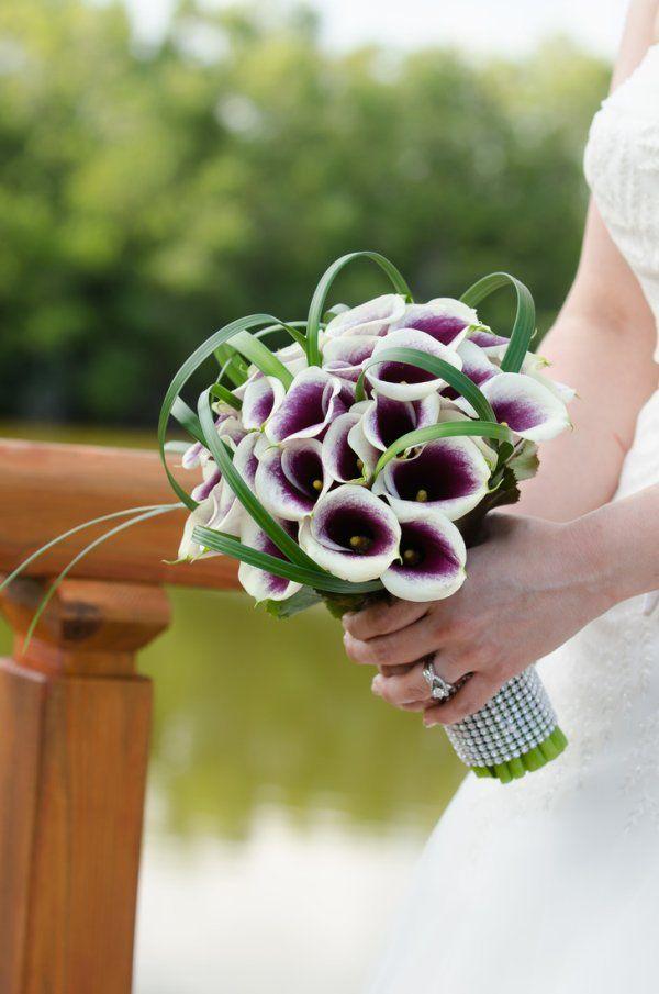 bouquet calle bianche e viola