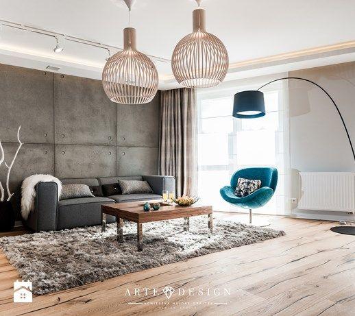 Mieszkanie w Gdańsku - Średni salon, styl nowoczesny - zdjęcie od Arte Dizain