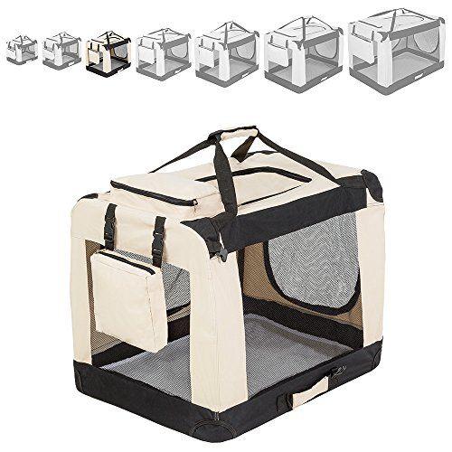Aus der Kategorie Boxen & Tragetaschen  gibt es, zum Preis von   Faltbare Hundetransportbox L (L/B/H: 69/50/52 cm) <br /> <br /> Technische Daten: <br /> <br /> Totalmaße (LxBxH): ca. 69x50x52 cm <br /> Maße zusammengeklappt (LxBxH): ca. 72x52x8 cm <br /> Öffnung breite Seite (BxH): ca.48x34 cm <br /> Öffnung Schmale Seite (BxH): ca. 32x33 cm <br /> Öffnung Oben (LxB): ca. 36x22 cm <br /> Tasche Oben (LxBxH): ca. 19x24x5 cm <br /> Tasche Seite (LxBxT): ca. 18x19x5 cm <br /> Liegedecke mit…