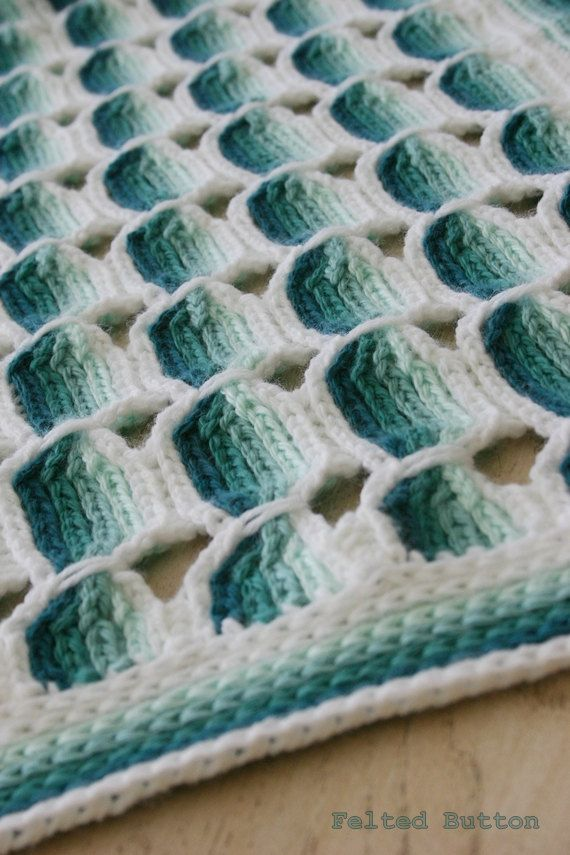 Crochet Pattern Candy stick Baby Afghan Colorful by FeltedButton