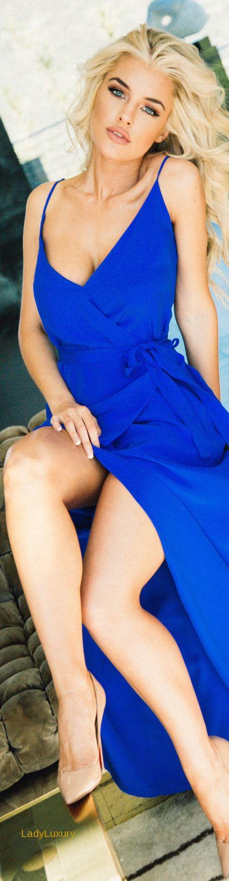 Lurelly Silk Wrap Dress | LadyLuxuryDesigns