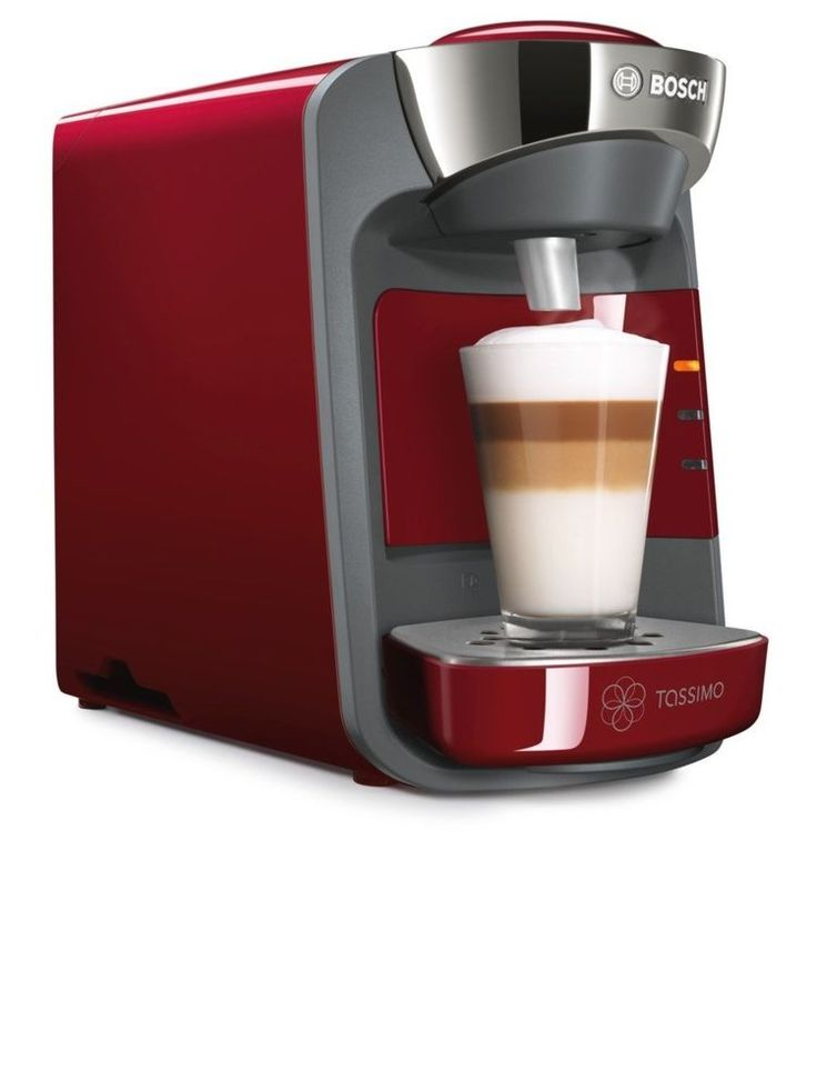Red Tassimo Coffee Machine Home Office Hot Drinks Cappuccino Tea Capsules Maker