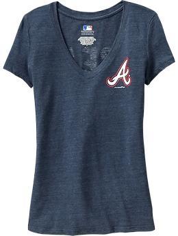 "Women's MLB® ""Great Catch"" V-Neck Tees - Atlanta Braves"