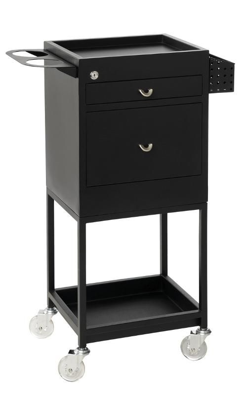Hairdressing Salon Furniture - Hairdressing Supplies - Lockable 2 Drawer Trolley More