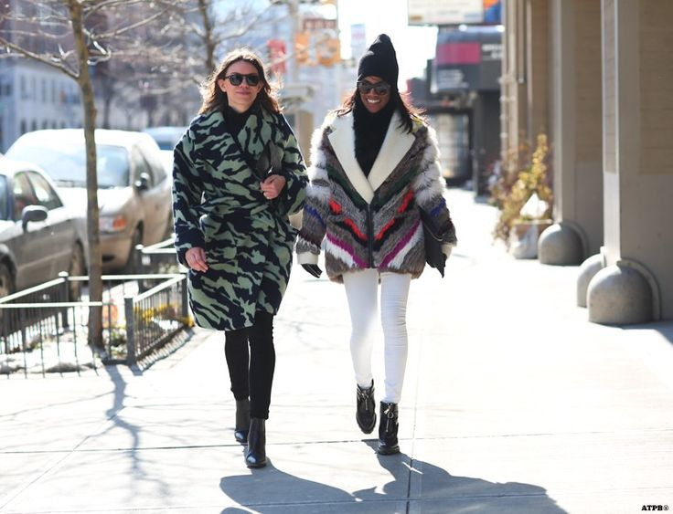 NYFW Day 4. Braving the Arctic Cold- Looks to Inspire: Julia Gall and Gabby Prescod on #ATPB