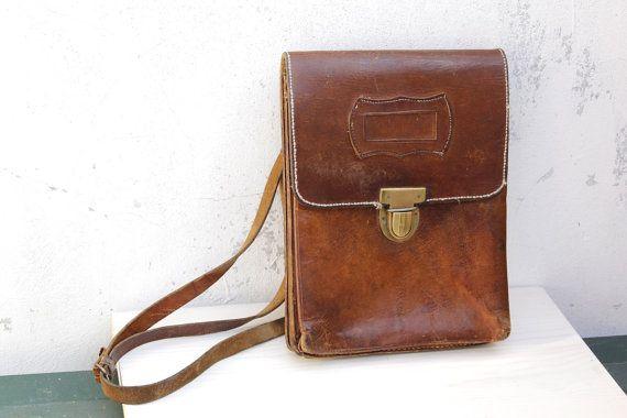 Vintage Rare Military Army Brown Genuine by RaffaelloVintage, $49.00