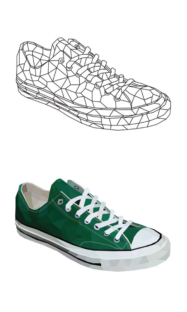 #Convers #Shoes #Polygon #Illust #Artwork