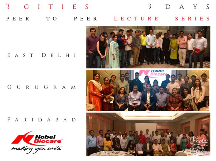 Dr. Puneet Kathuria conducted 3 Peer to Peer meetings in 3 cities for leading Dental Implants company Nobel Biocare. Very well attended & appreciated event by a lot of Implants enthusiasts. #NobelBiocare #DelhiDental