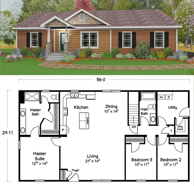 28 Best Ranch Style Homes Images On Pinterest Floor Plans House Floor Plans And House Layouts