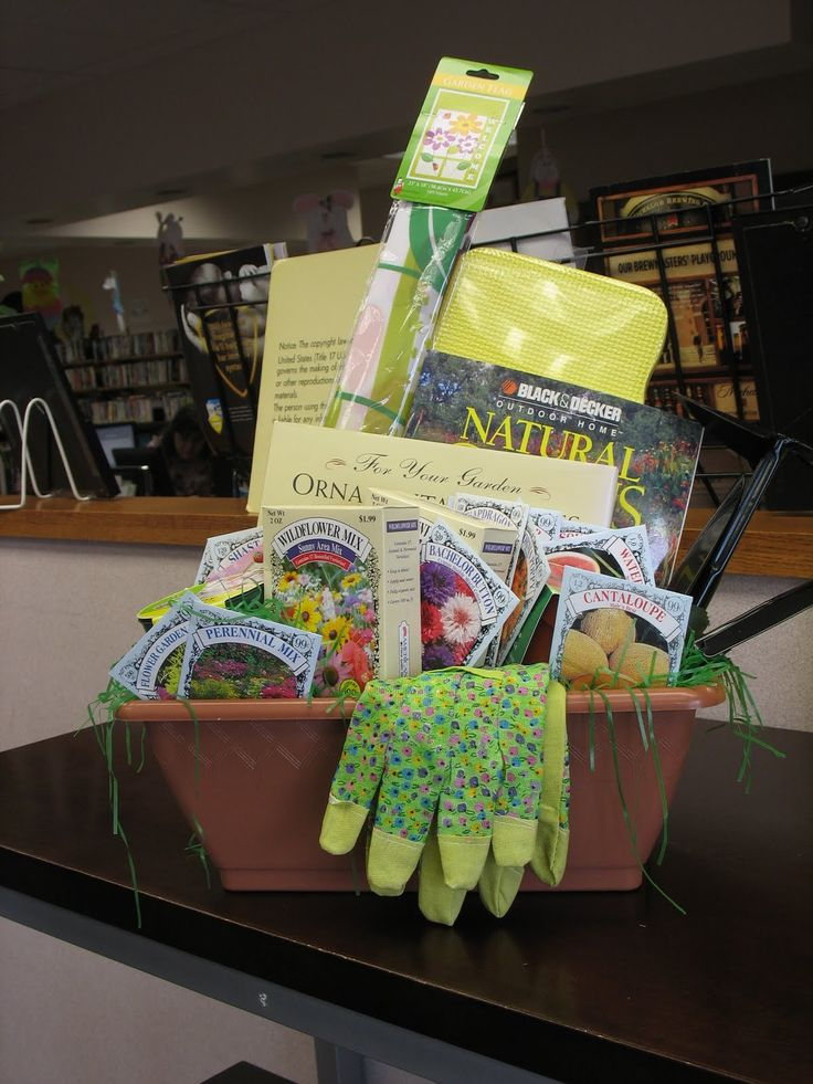 Toy Raffle Prizes : Spring gardening basket for silent auction class school