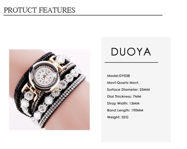 DUOYA DY038 Colorful Fashion Style Wristwatch Crystal Round Dial Bracelet Elegant Women Watch  #women #men #fashion #jewelry #watches