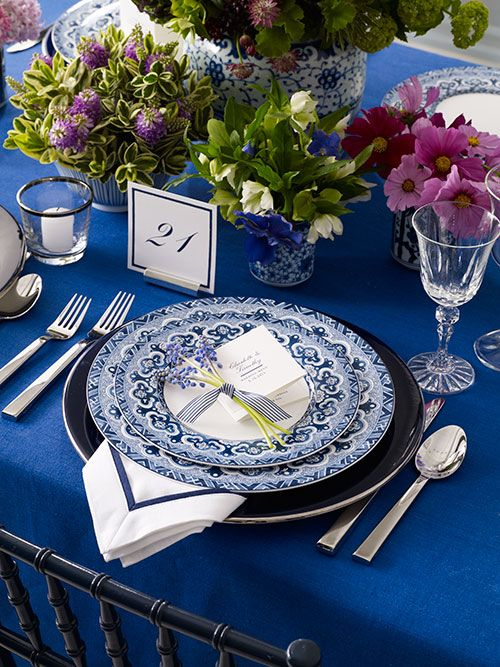 Ralph Lauren Reception Tabletop Blue and White