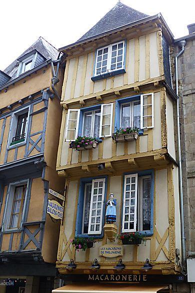 Vieille maison de Quimper, Bretagne