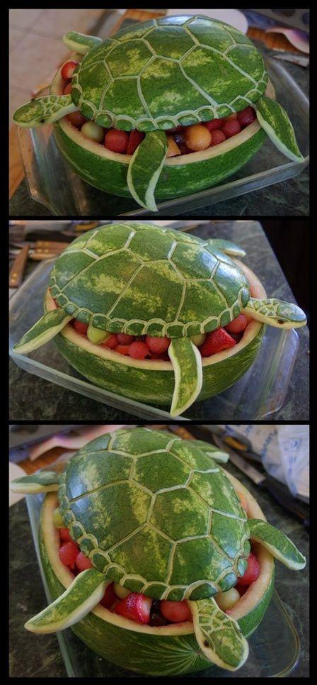 watermelon art | Watermelon Turtle Art | Geekfill