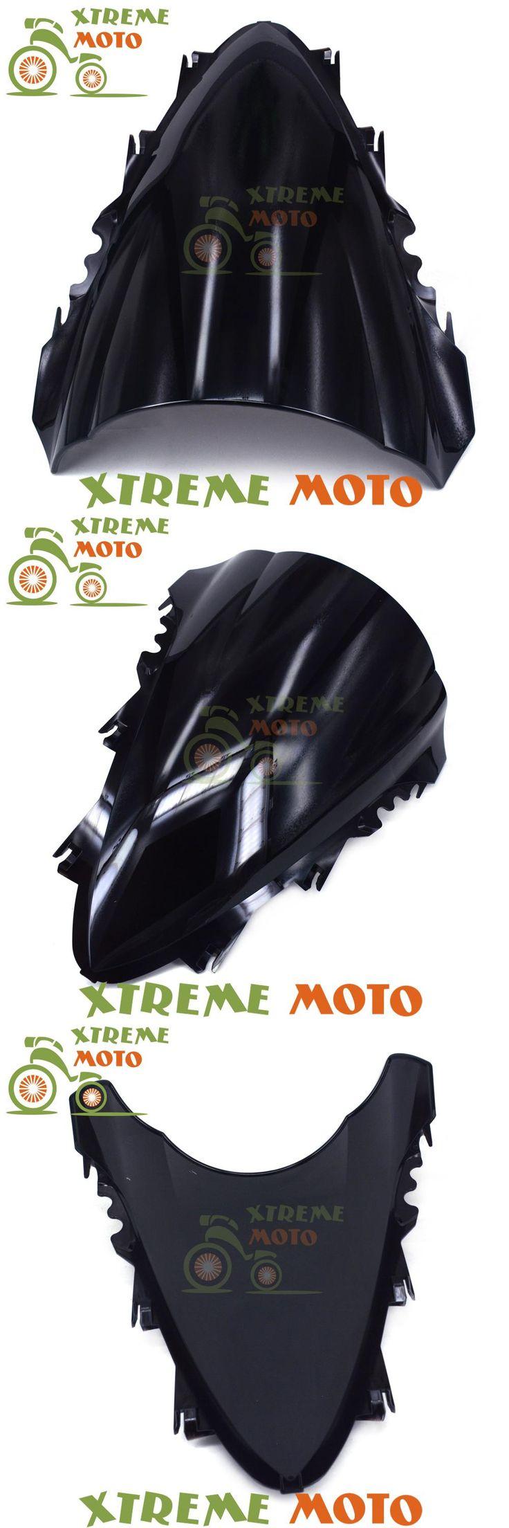 [Visit to Buy] Black Plastic Motorcycle Windscreen Windshield For YZF 1000 R1 2007 2008 Motocross Motorbike Dirt Bike Free Shipping #Advertisement