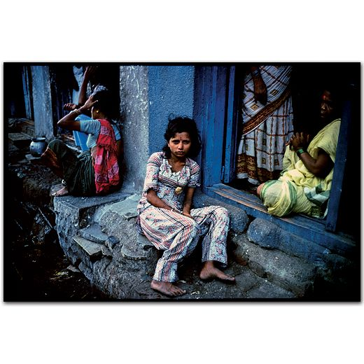 A young street prostitute.Falkland Road, Bombay, India. 1978 by Mary Ellen Mark
