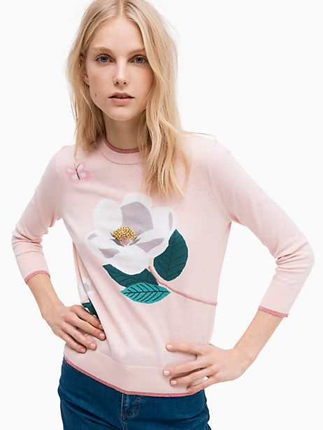 8daa290ba2373b Kate Spade Flower Sweater, Cameo Pink - Size XS | Products ...