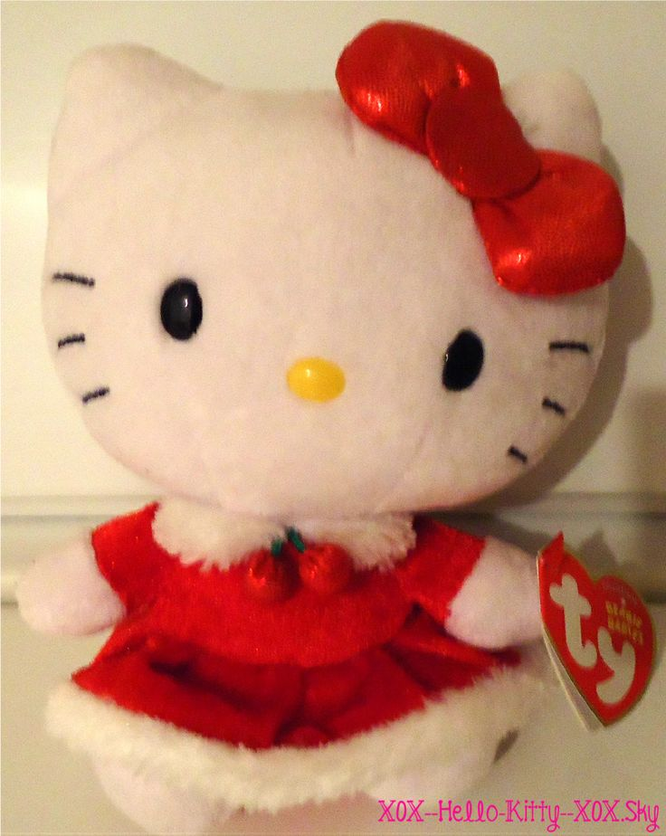 Peluche hello kitty de noel hello kitty - Hello kitty noel ...