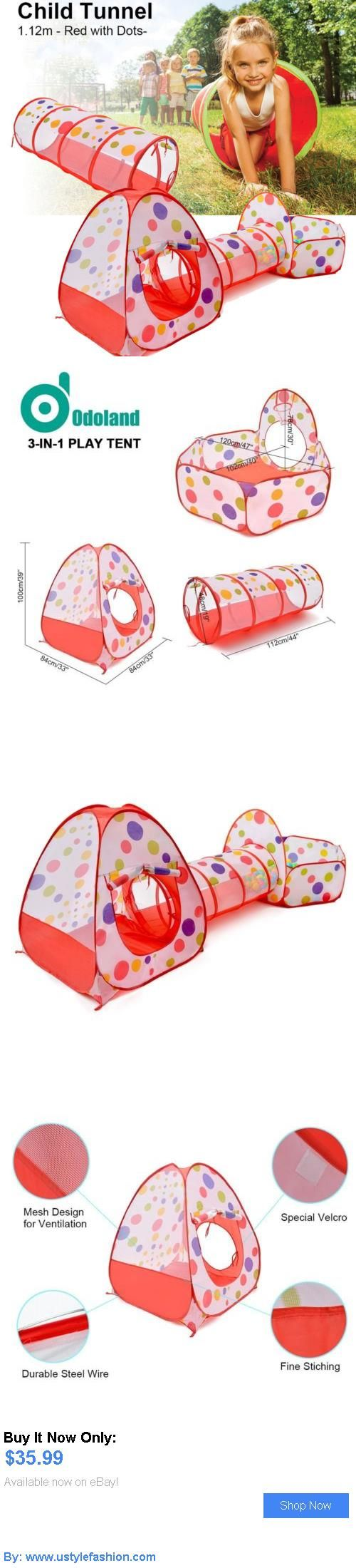 Baby play shades and tents: 3-In-1 Pop-Up Children Toddlers Play Tent Kids Playhouse Tunnel Set Game House BUY IT NOW ONLY: $35.99 #ustylefashionBabyplayshadesandtents OR #ustylefashion