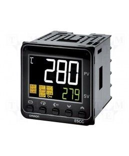 Omron Digital temperature Controller,Input Type : Current input: 4 to 20 mA or 0 to 20 mA, Voltage input: 1 to 5 V, 0 to 5 V, or 0 to 10 V,Sensor type : Thermocouple: K, J, T, E, L, U, N, R, S, B, W, or PL II,Platinum resistance thermometer: Pt100 or JPt100,Infrared temperature sensor (ES1B): 10 to 70°C, 60 to 120°C, 115 to 165°C, or 140 to 260°C, Control Method : ON/OFF control or 2-PID control (with auto-tuning),Power Supply : 100-240 VAC,Output Type: 4 to 20 mA DC/0 to 20 mA DC, load: 500…