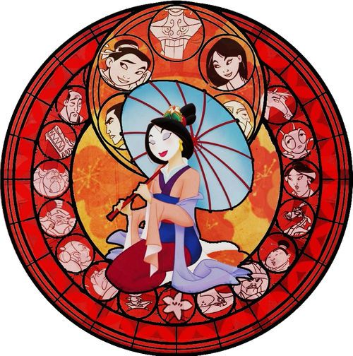 Mulan styled Kingdom Hearts stained glass platform in Destati/Dive to the Heart. How I wish you were really in the game <3
